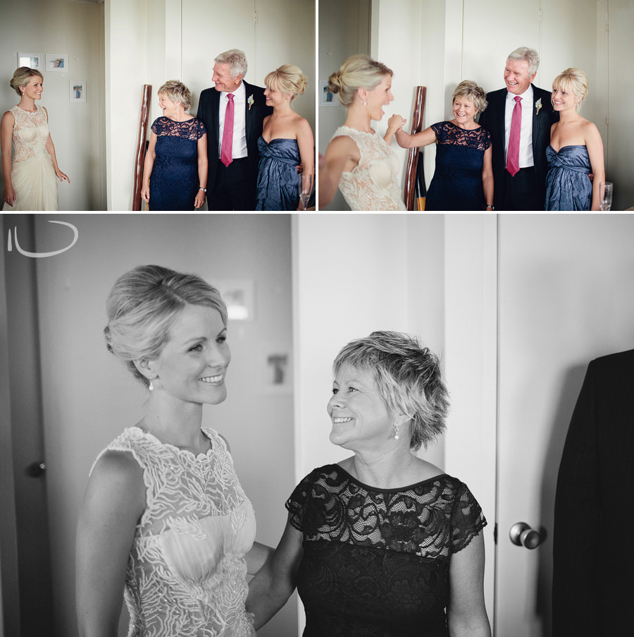 Sydney Wedding Photography: Brides parents seeing bride dressed first time