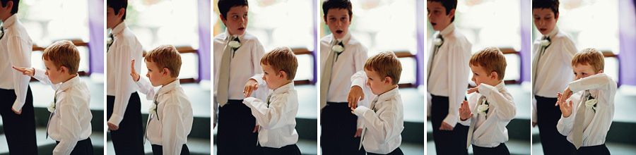 Wedding Photographers Canberra: Bored page boy during ceremony