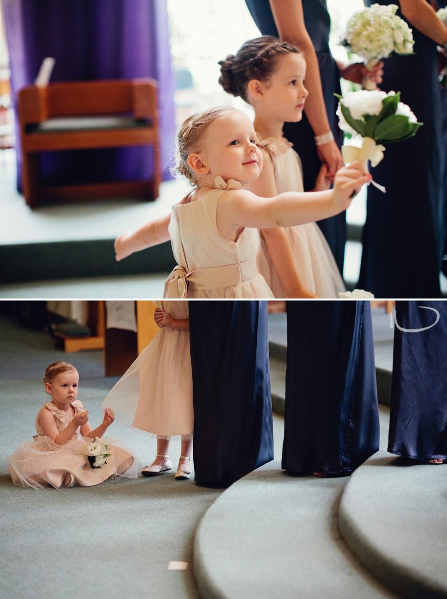 Wedding Photographers Canberra: Flowergirl during ceremony