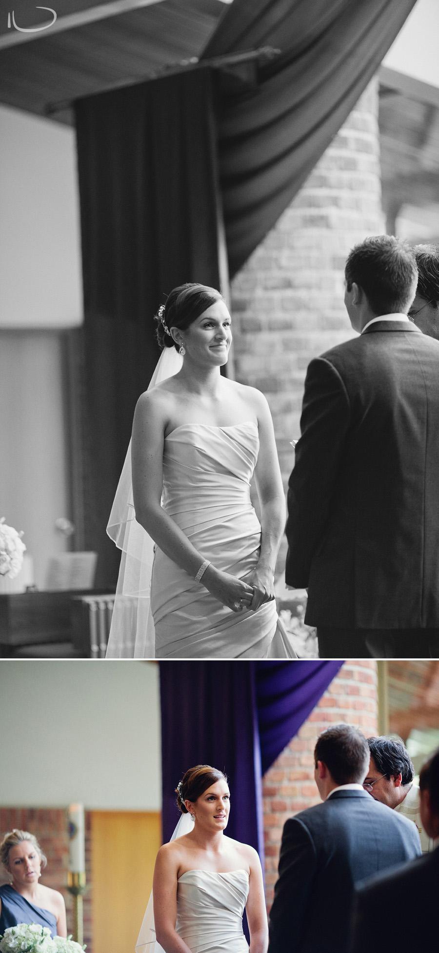 Wedding Photographers Canberra: Bride during ceremony