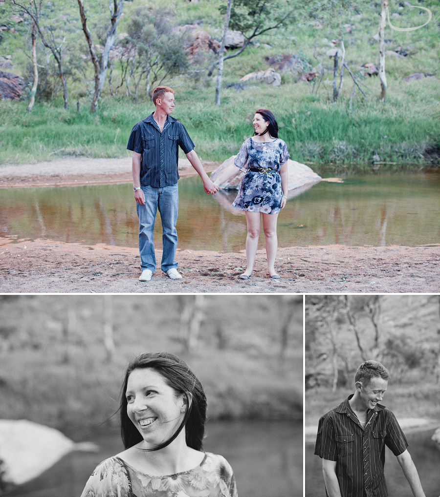 Alice Springs Engagement Photography: Simpsons Gap session