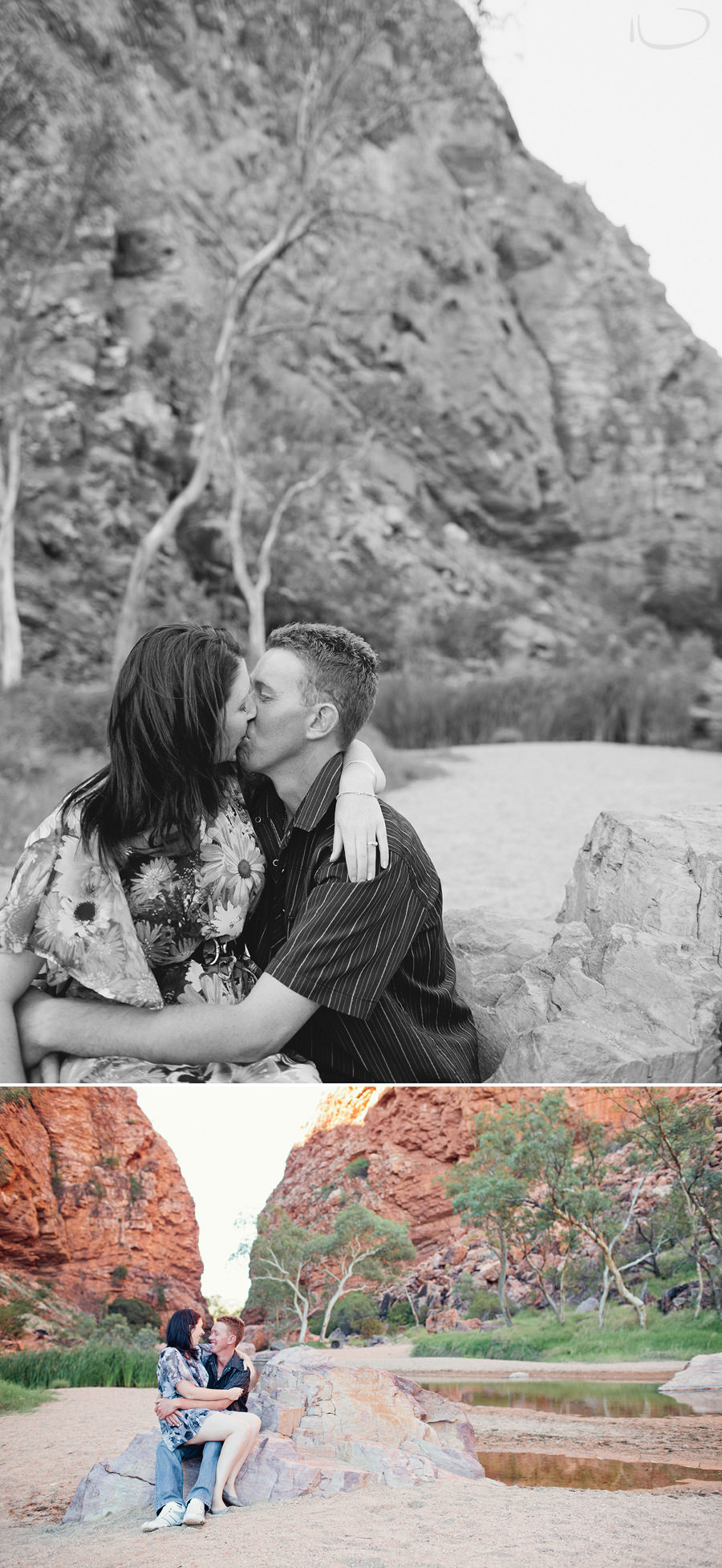 Alice Springs Wedding Photographers: Romantic engagement session