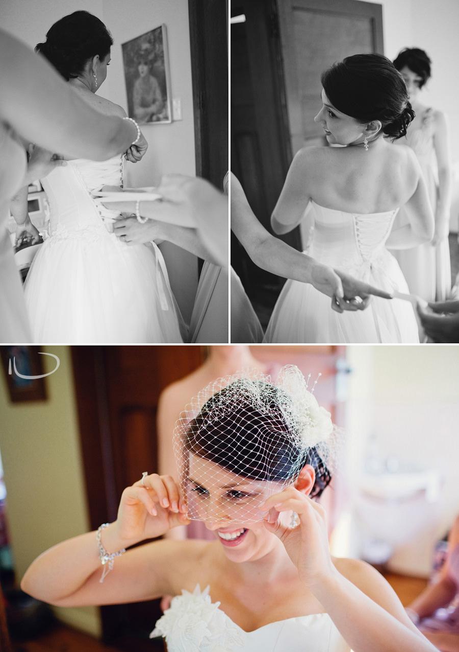 Bathurst Wedding Photographers: Bride getting dressed