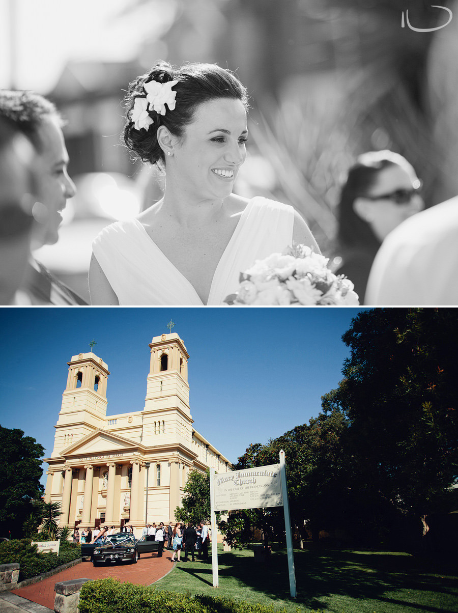 Candid Wedding Photographers: Bride after ceremony