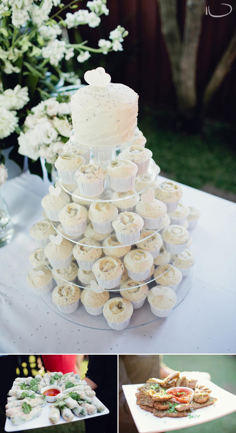 Editorial Wedding Photography: Cupcake Wedding cake