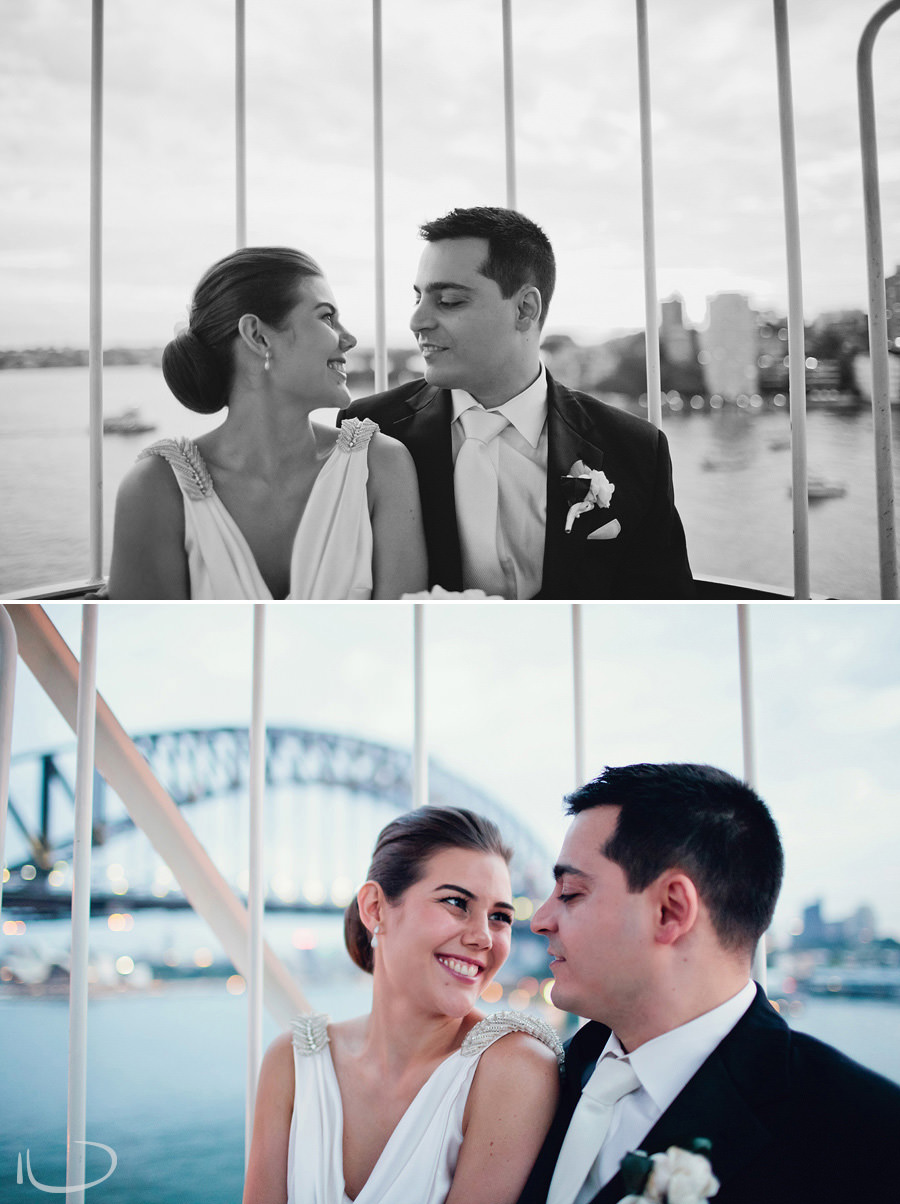 Elegant Wedding Photographers: Bride & groom on ferris wheel
