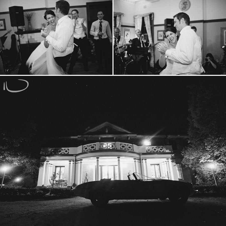Glen Davis Boutique Hotel Wedding Photographer: Exterior night shot