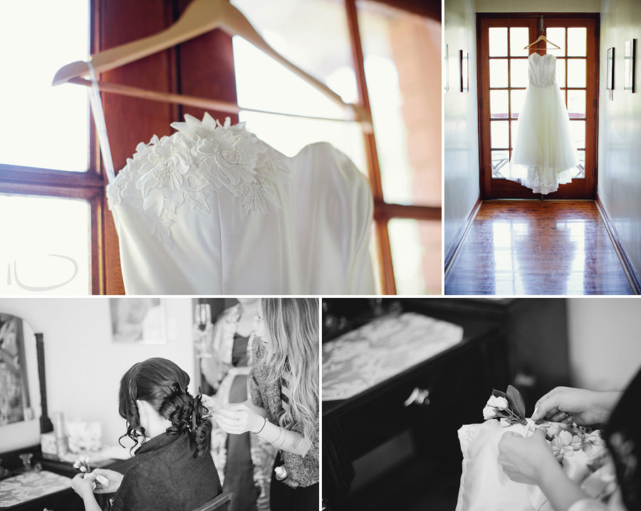 Glen Davis Boutique Hotel Wedding Photography: Bride's dress