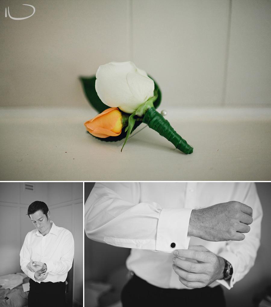 Glen Davis Wedding Photographers: Groom getting ready