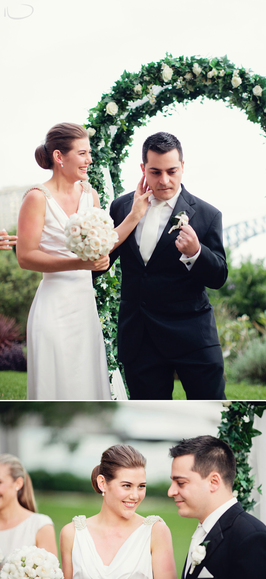 Lavender Bay Wedding Photographer: Groom winning