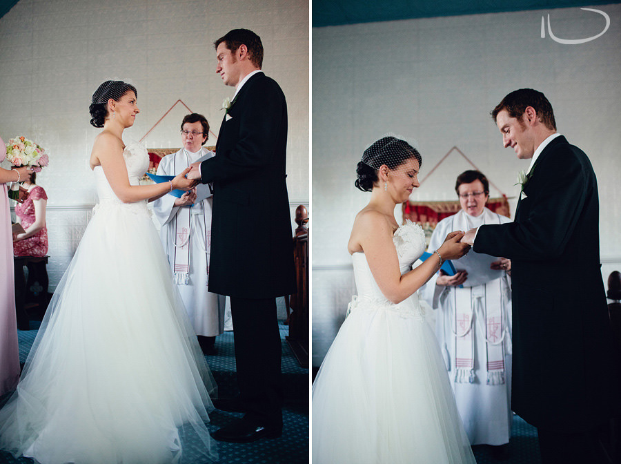 Lithgow Wedding Photographers: Bride & groom exchanging rings