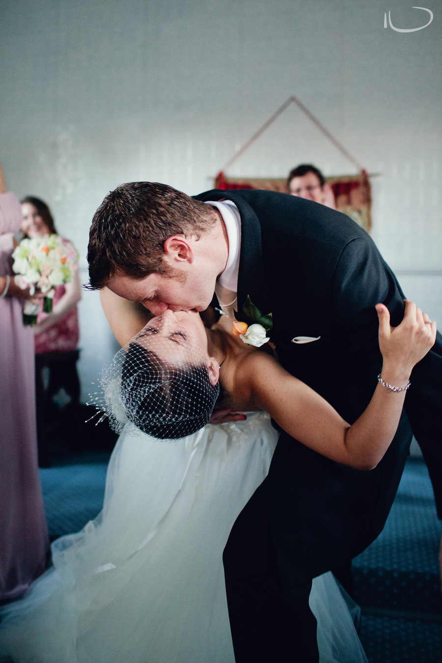 Lithgow Wedding Photography: First kiss