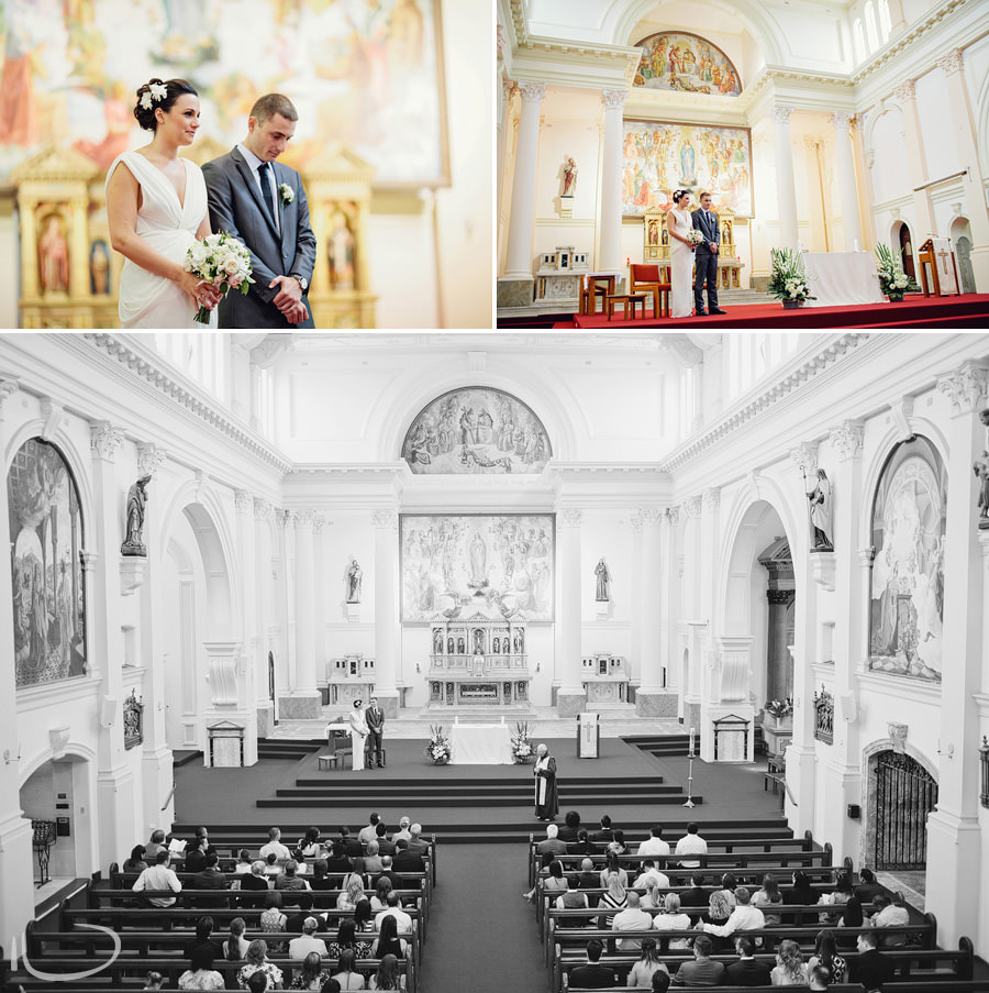 Mary Immaculate Waverly Wedding Photography: Bride & Groom during ceremony