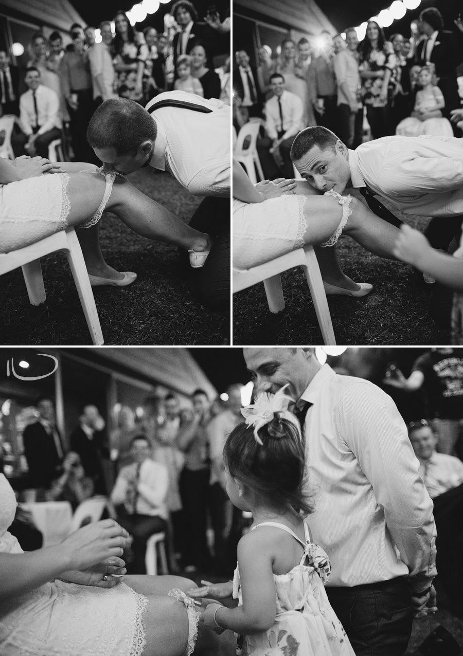 Modern Sydney Wedding Photograpers: Garter removal