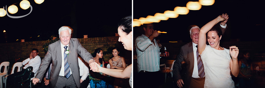 Modern Sydney Wedding Photographer: Bride dancing with father in law