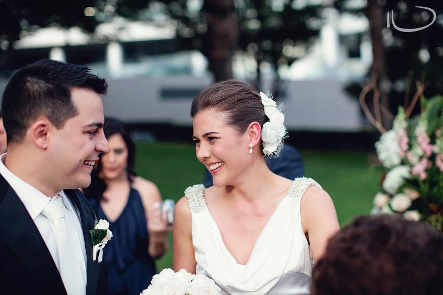 North Shore Wedding Photography: Bride & groom after ceremony