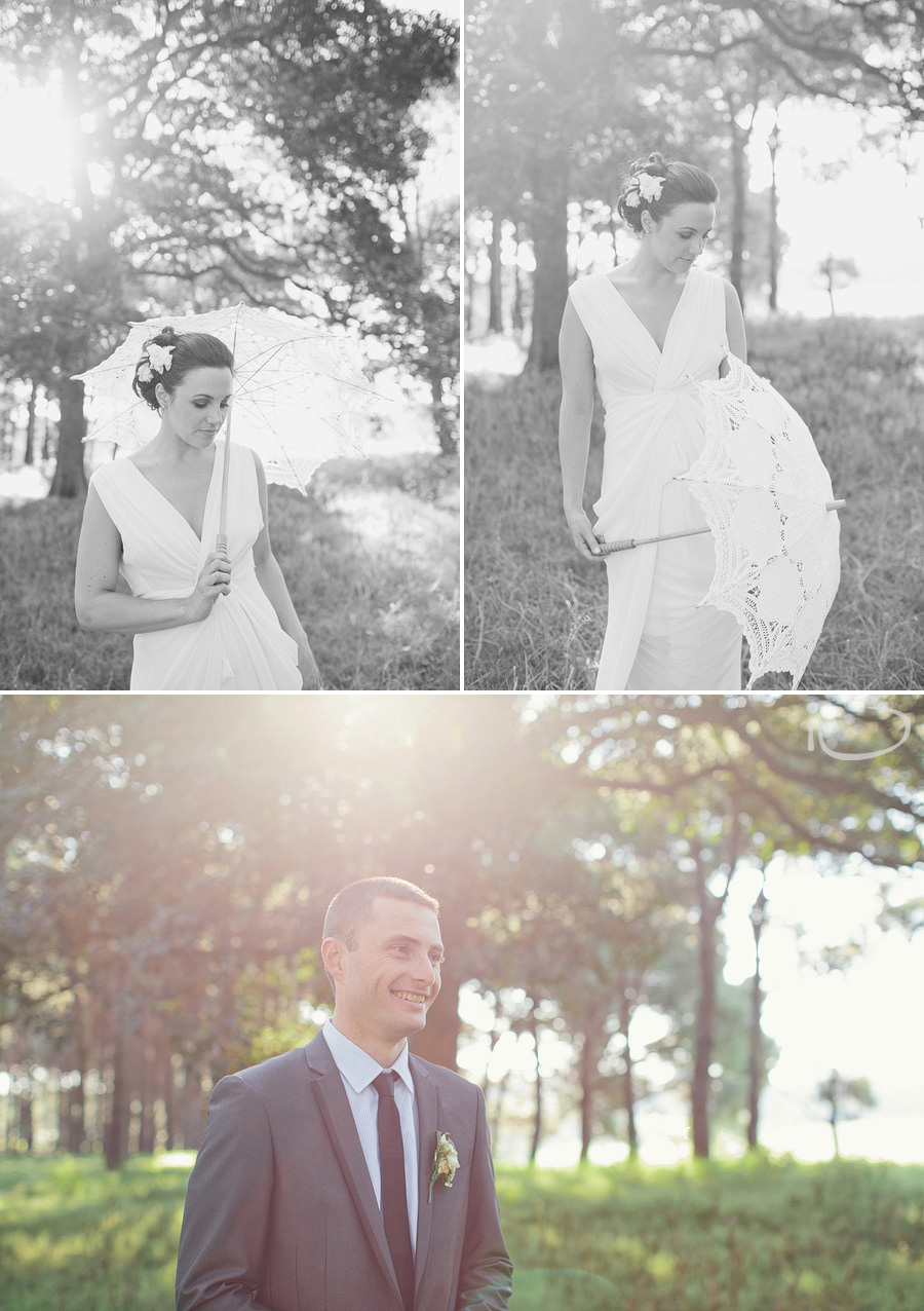 Romantic Wedding Photographers: Bride & groom individual portraits