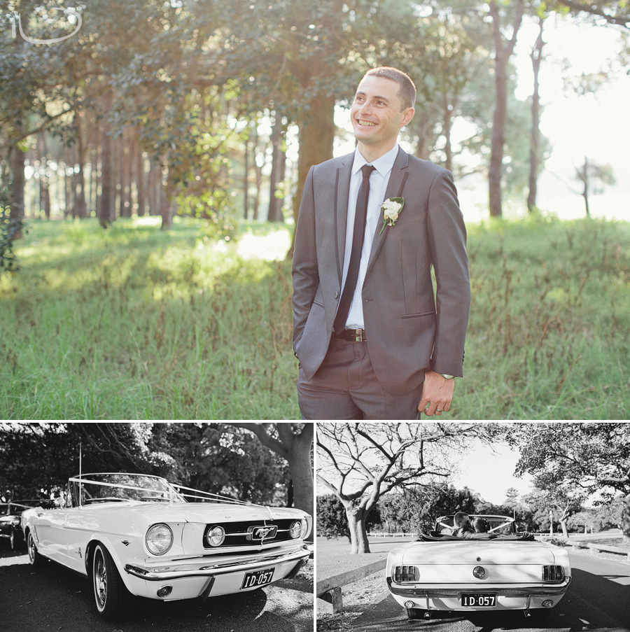 Romantic Wedding Photography: Sydney Mustangs wedding cars