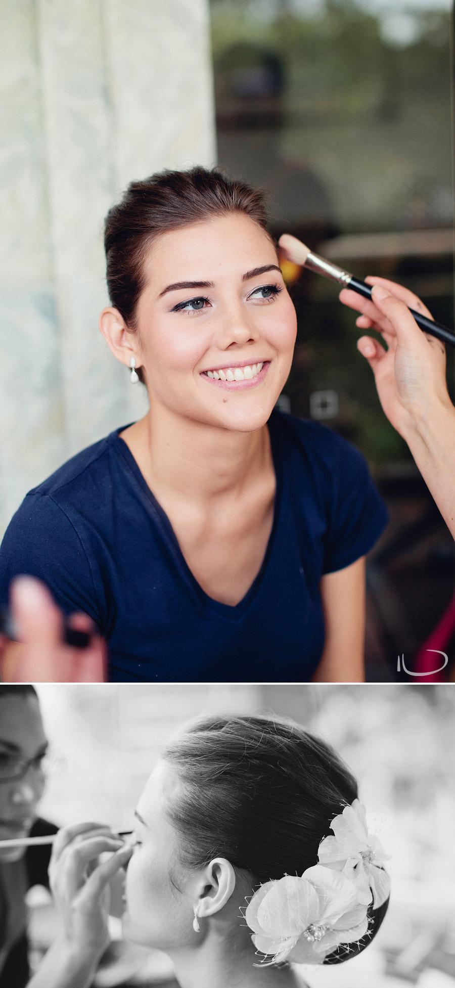 Sydney Wedding Photographer: Bride having makeup done