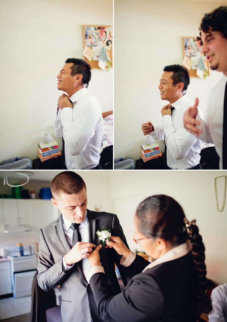 Sydney Wedding Photographer: Groom & groomsmen getting ready