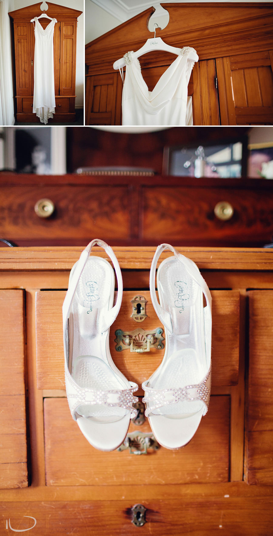 Sydney Wedding Photographers: Collette Dinnigan bridal gown & shoes
