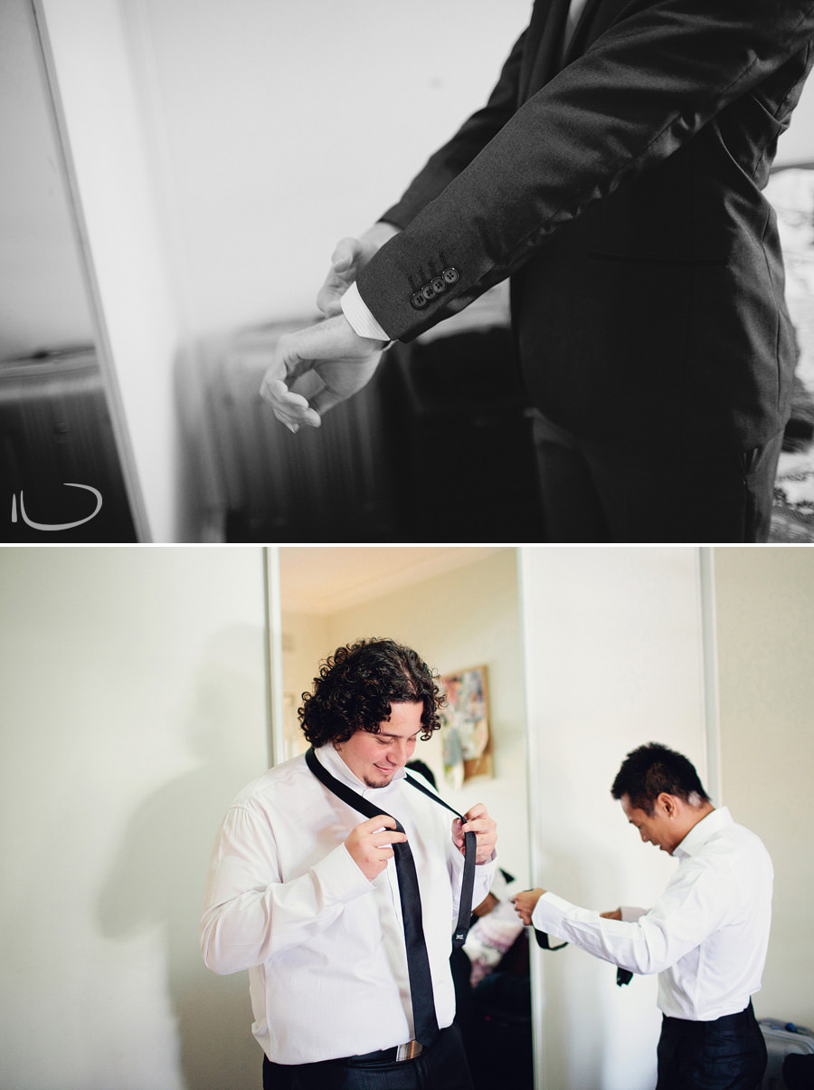 Sydney Wedding Photography: Groom & groomsmen getting ready