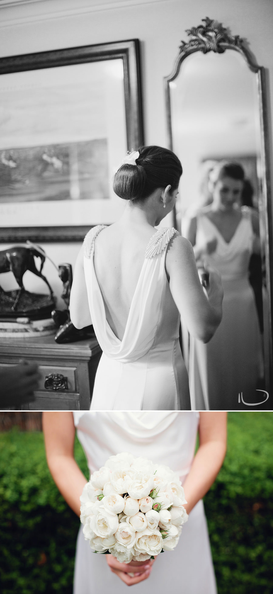 Wedding Photographer in Sydney: Bride getting dressed