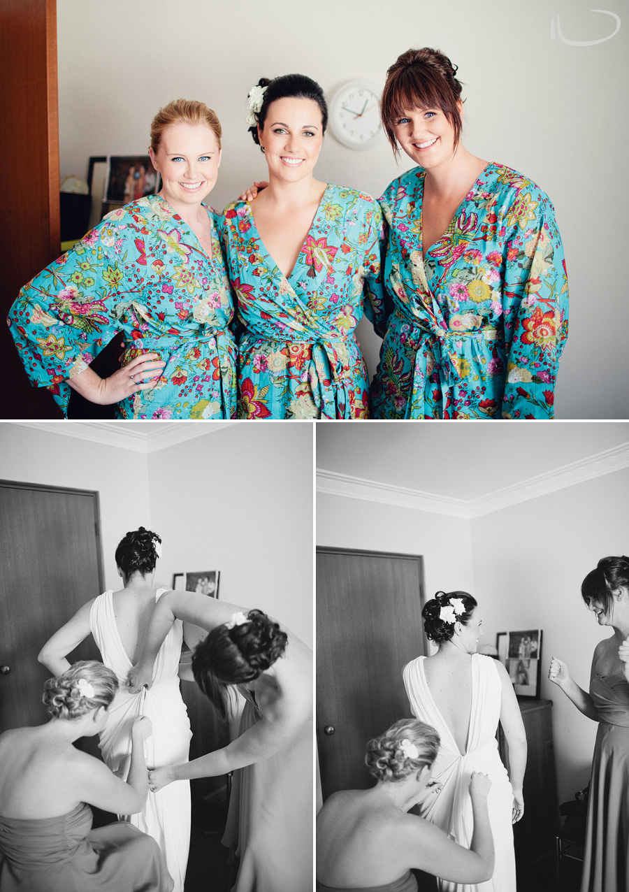 Wedding Photographers Sydney: Bride getting dressed