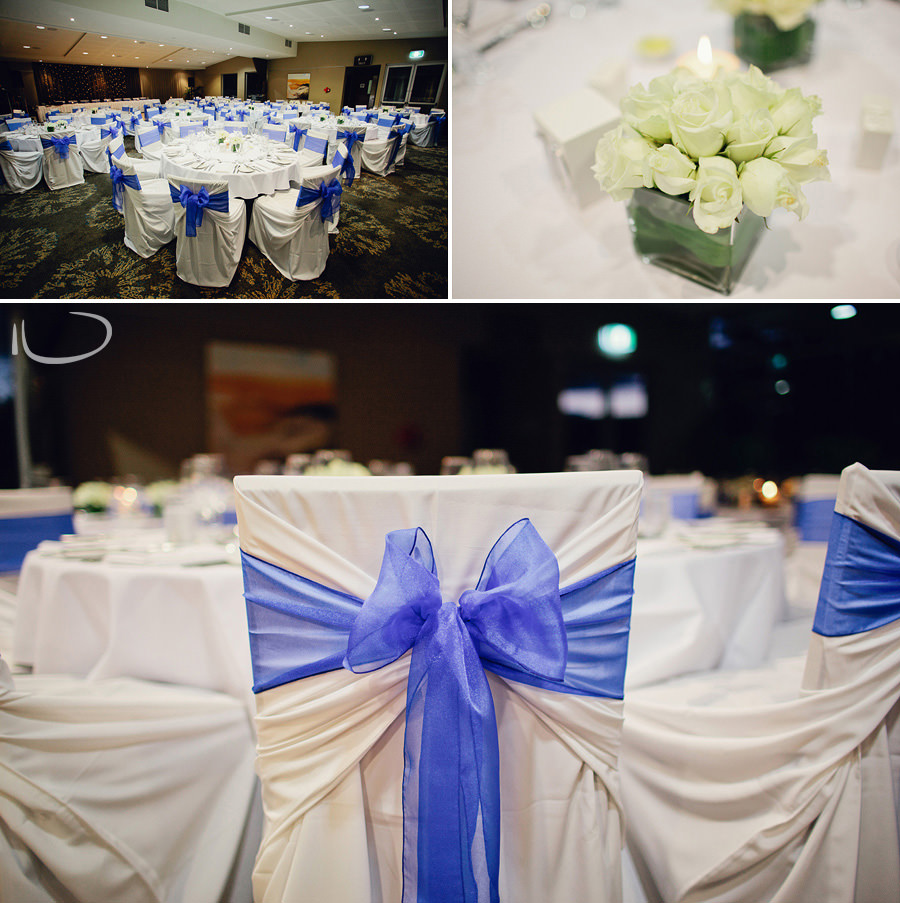 Bayview Golf Club Wedding Photographer: Reception decor
