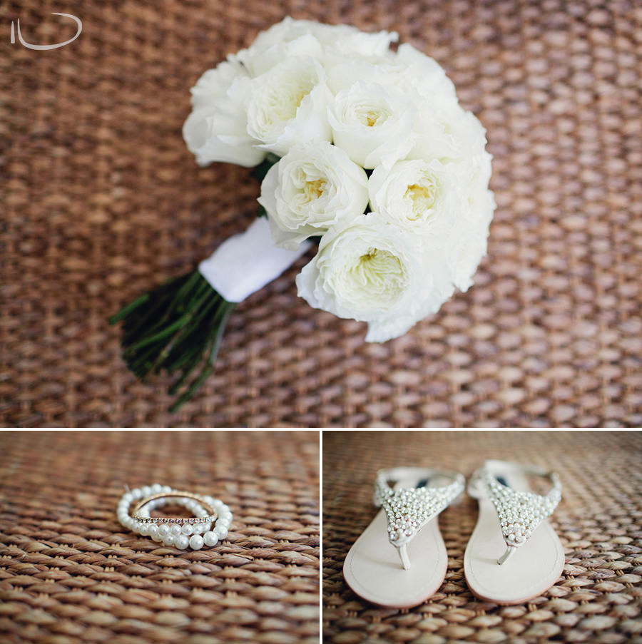Bayview Wedding Photographer: Brides bouqet, jewellery & shoes