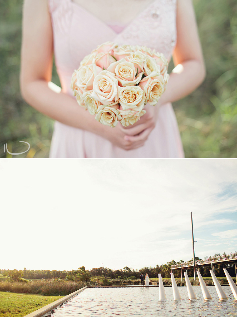 Creative Wedding Photographer Sydney: Modern bride & Groom portrait