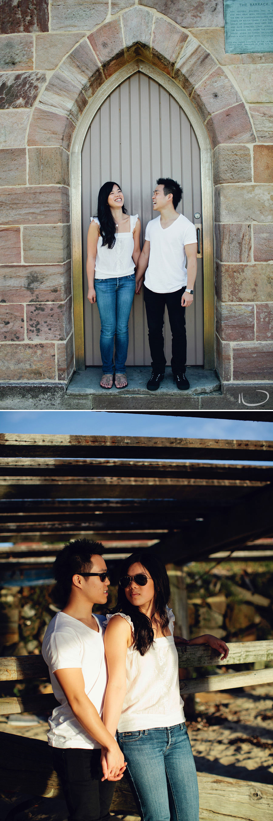 La Perouse Engagement Photographers: Couple at fort