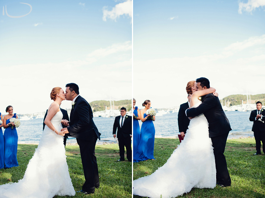 Manly Wedding Photographers: First kiss