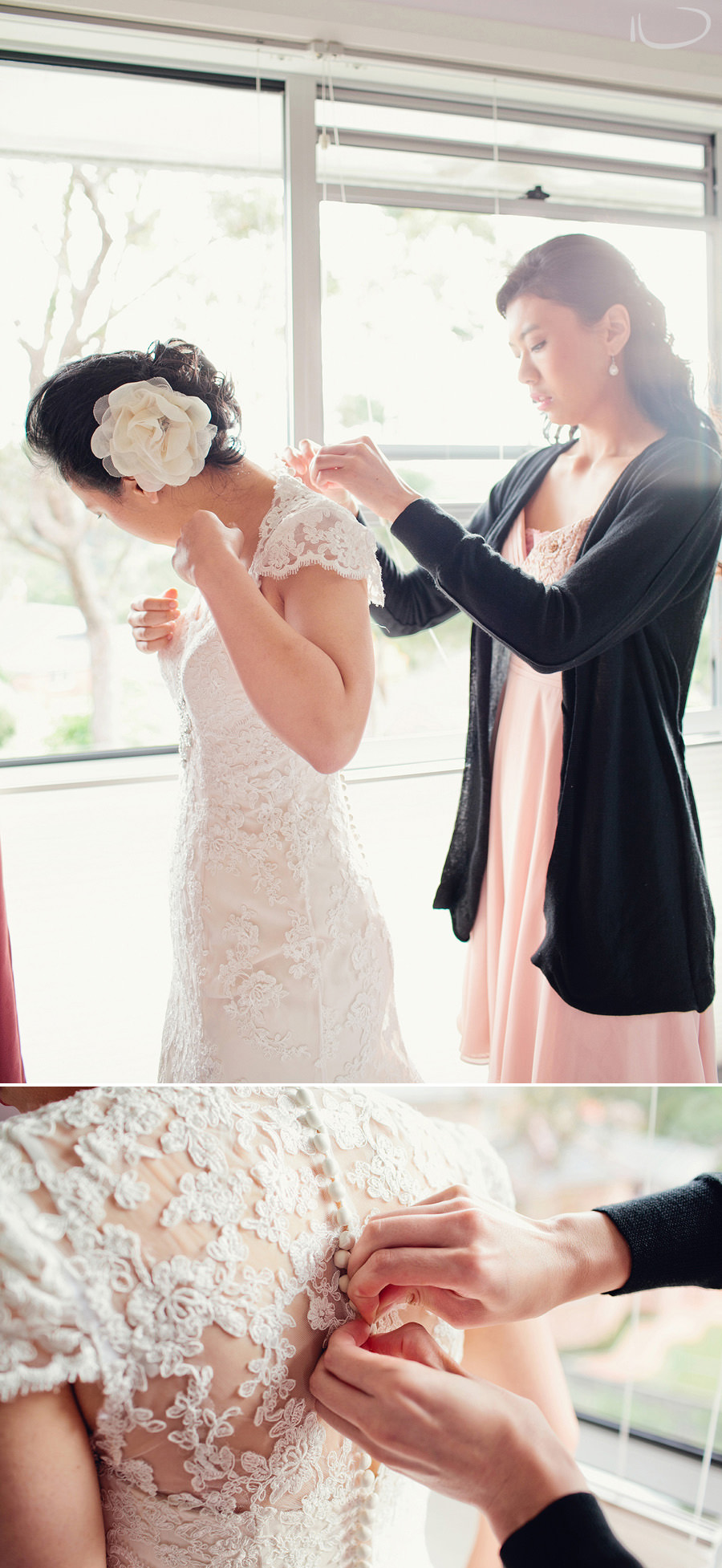 Modern Wedding Photographers: Bride getting dressed