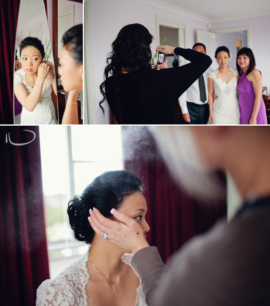 North Shore Wedding Photographer: Bride getting ready