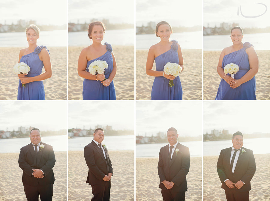 Northern Beaches Wedding Photographer: Bridal party on Shelly Beach