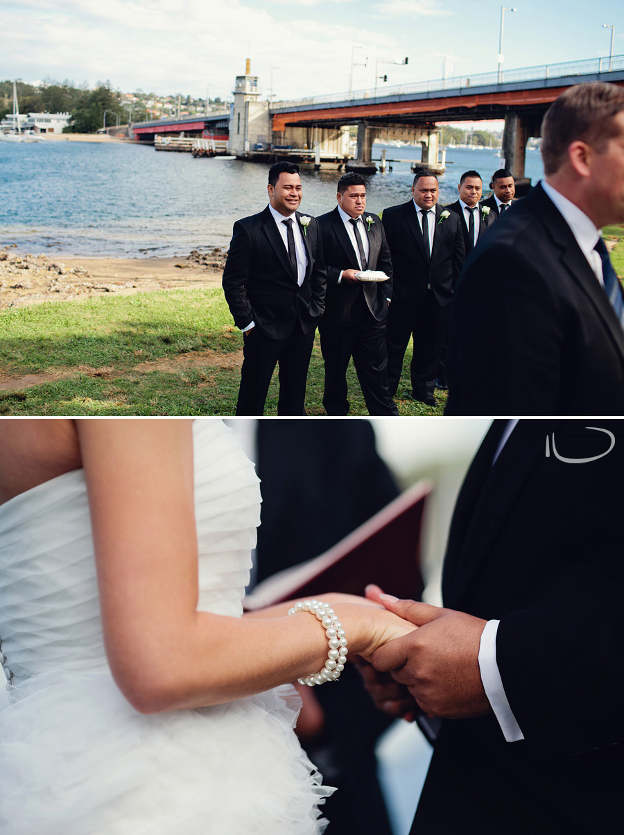 Seaforth Wedding Photography: Bride & Groom holding hands during ceremony