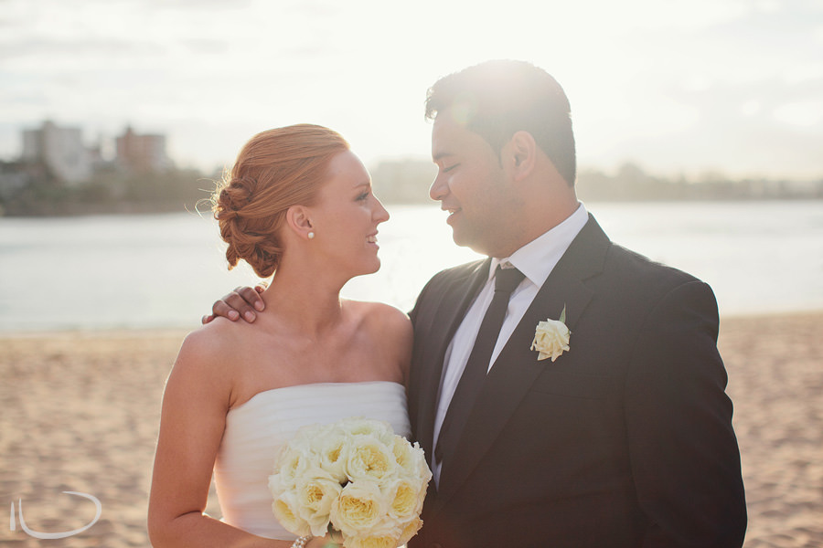 Sydney Wedding Photographer: Bride & Groom at Shelly Beach, Manly