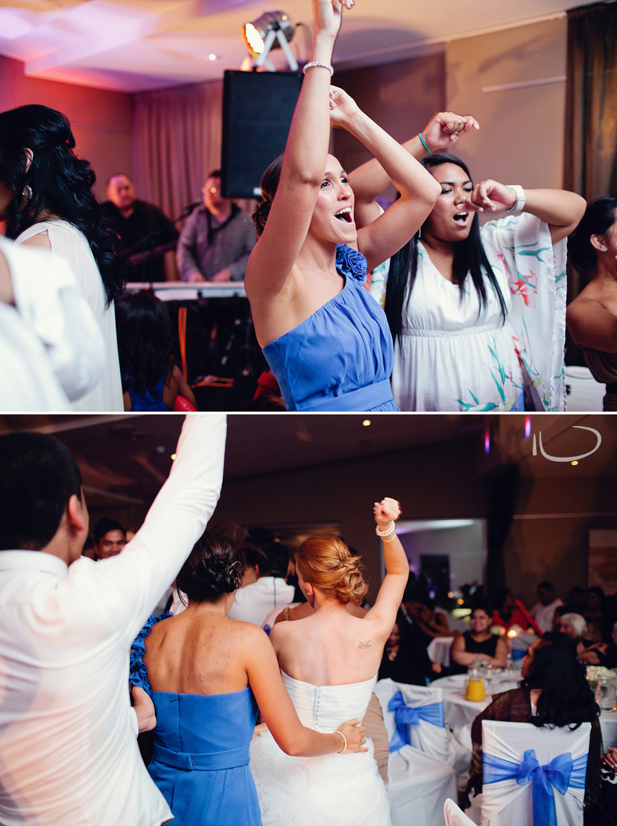 Sydney Wedding Photographers: Reception conga line