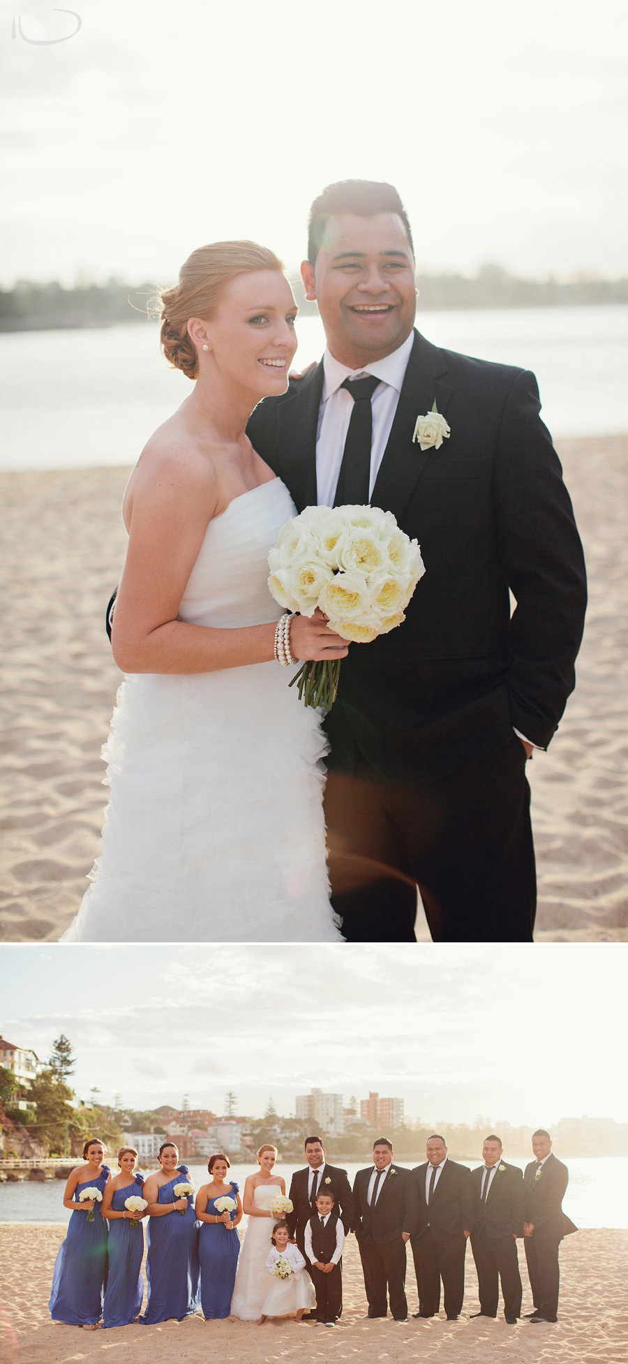 Sydney Wedding Photography: Bride & Groom on beach
