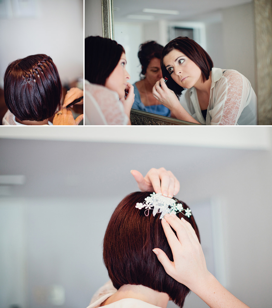 Coral Coast Wedding Photographer: Bride doing own makeup