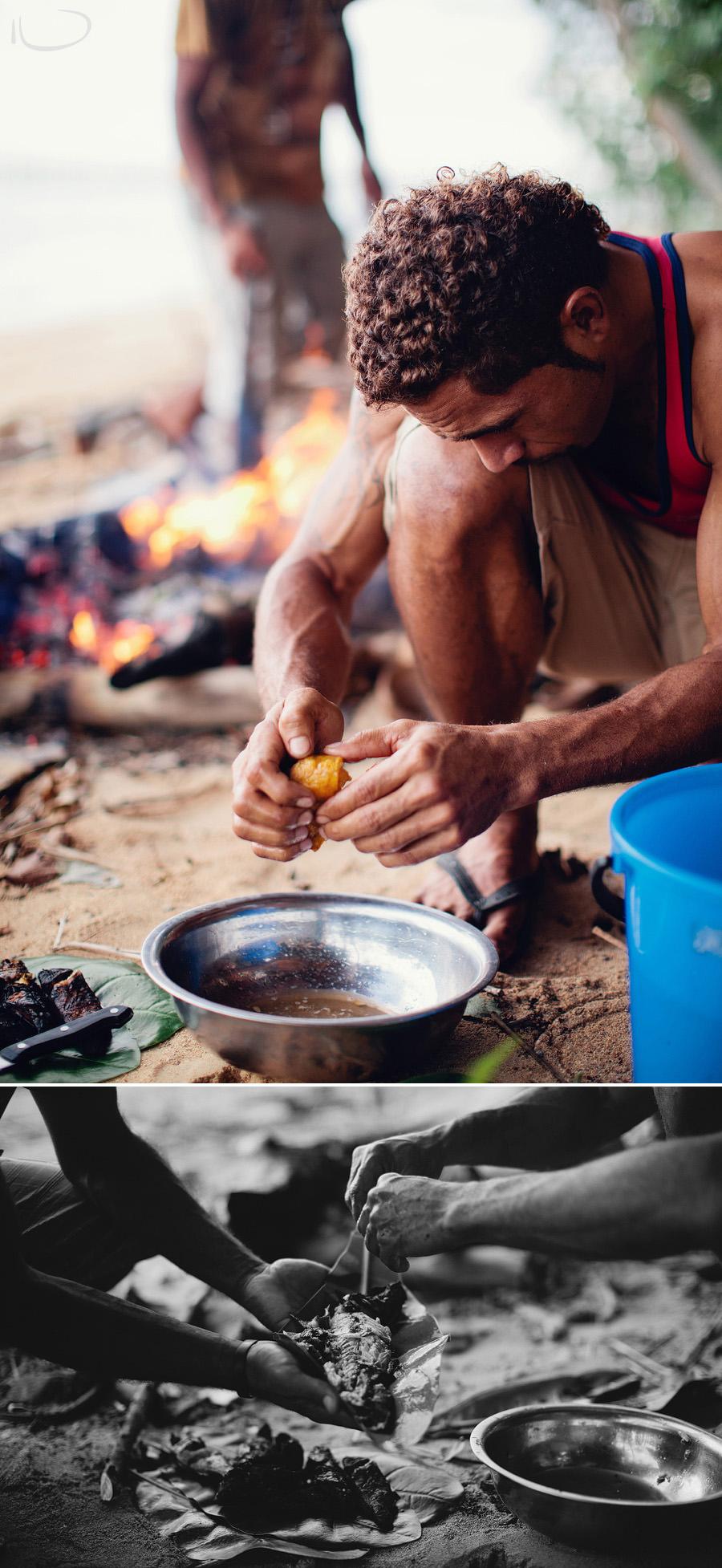 Fiji Travel Photography: Beach bonfire