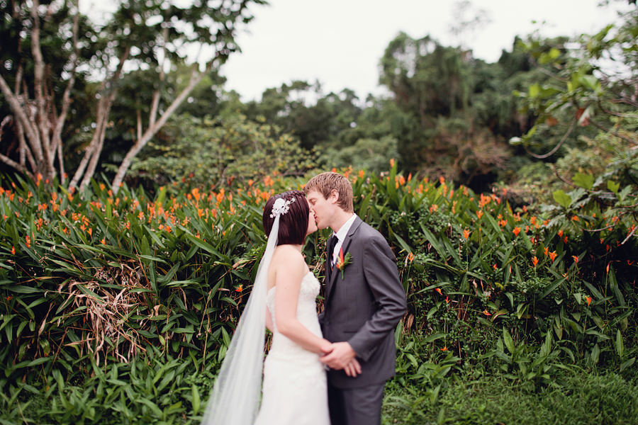 Fiji Wedding Photographer: Bride & Groom portrait