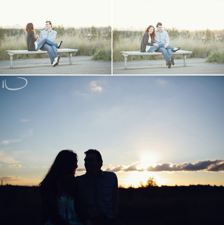 Homebush Bay Engagement Photographer: Afternoon silhouette