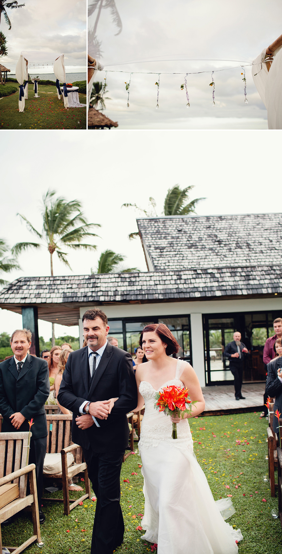 Suva Wedding Photographer: Bride & father walking down the aisle