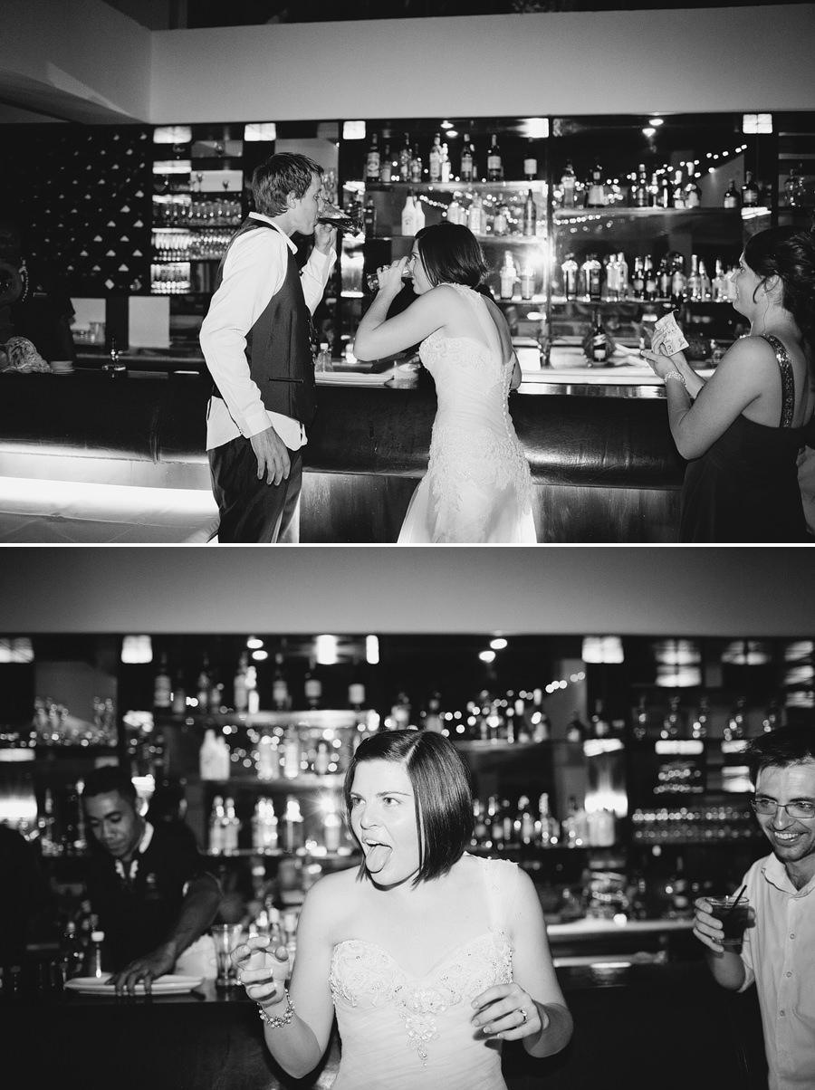 The Pearl South Pacific, Fiji Wedding Photographers: Bride & Groom doing shots