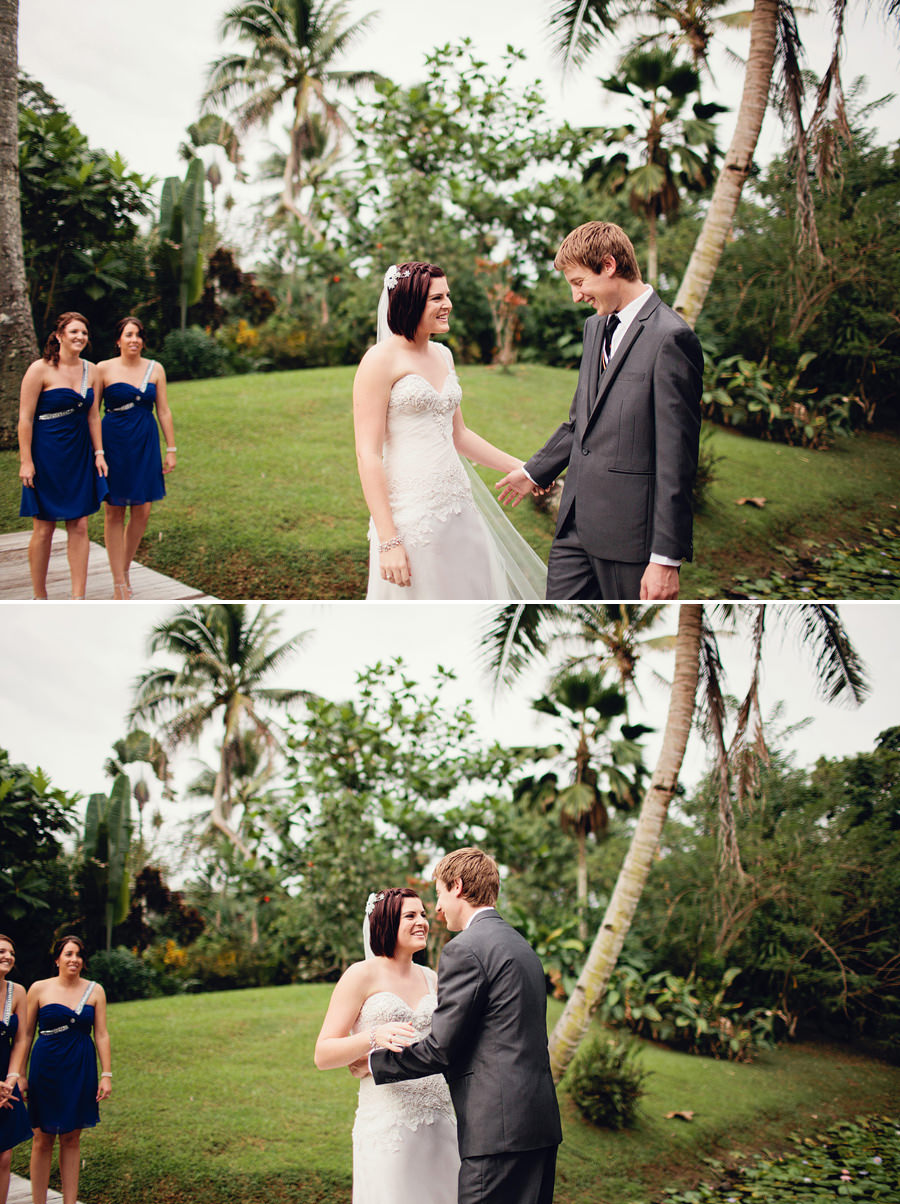 The Pearl South Pacific Wedding Photographer: First look