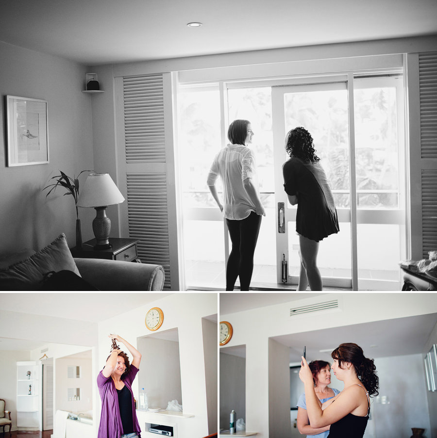 The Pearl Wedding Photographer: Bride & bridesmaids getting ready
