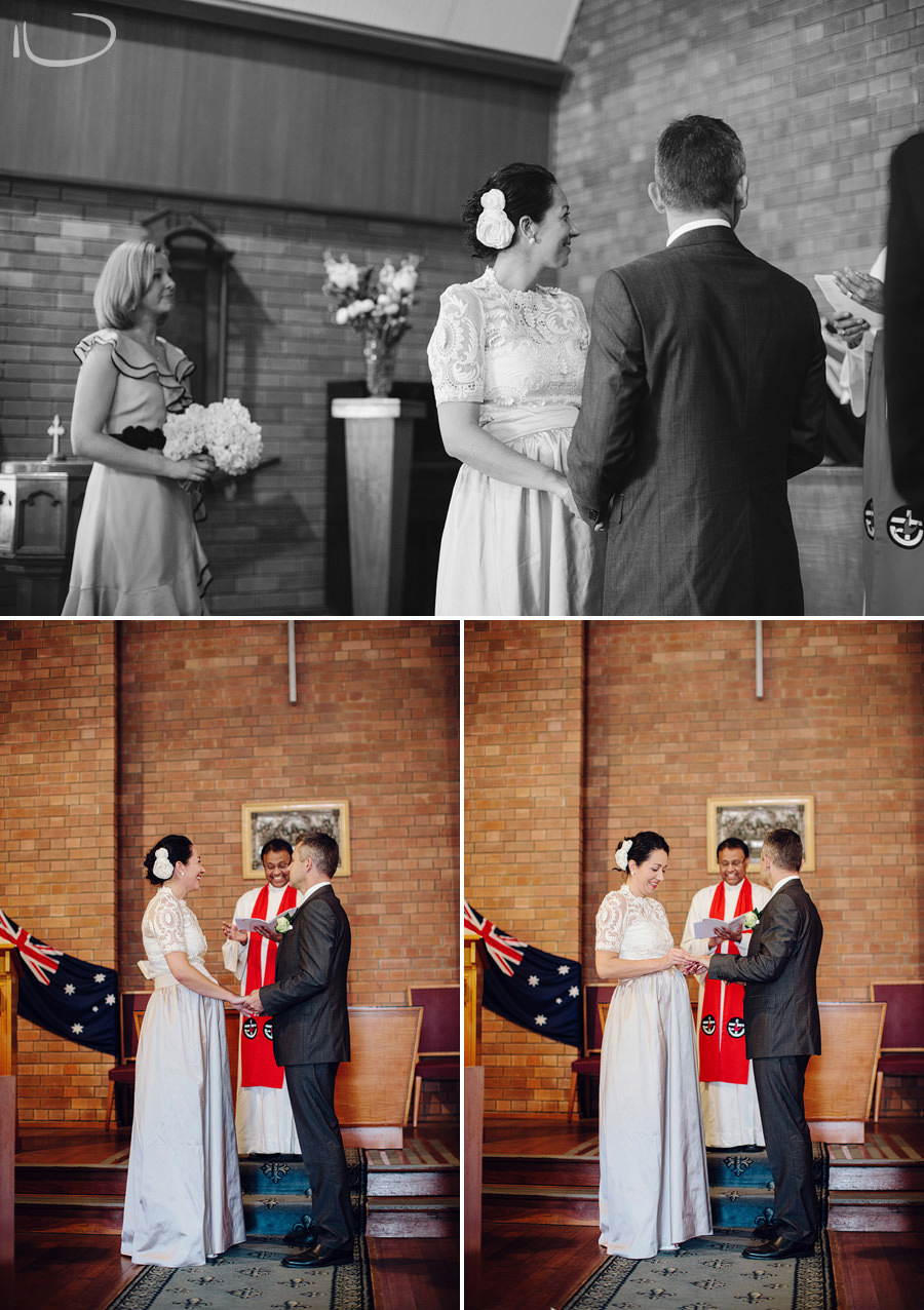 Eastern Suburbs Wedding Photography: Ring exchange