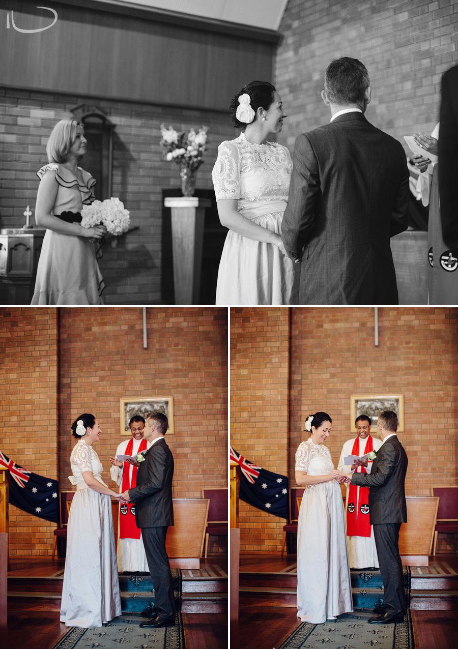 Eastern Suburbs Wedding Photography: Ring exchange